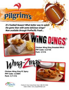 Pierce Chicken Wing Dings and Wing Zings